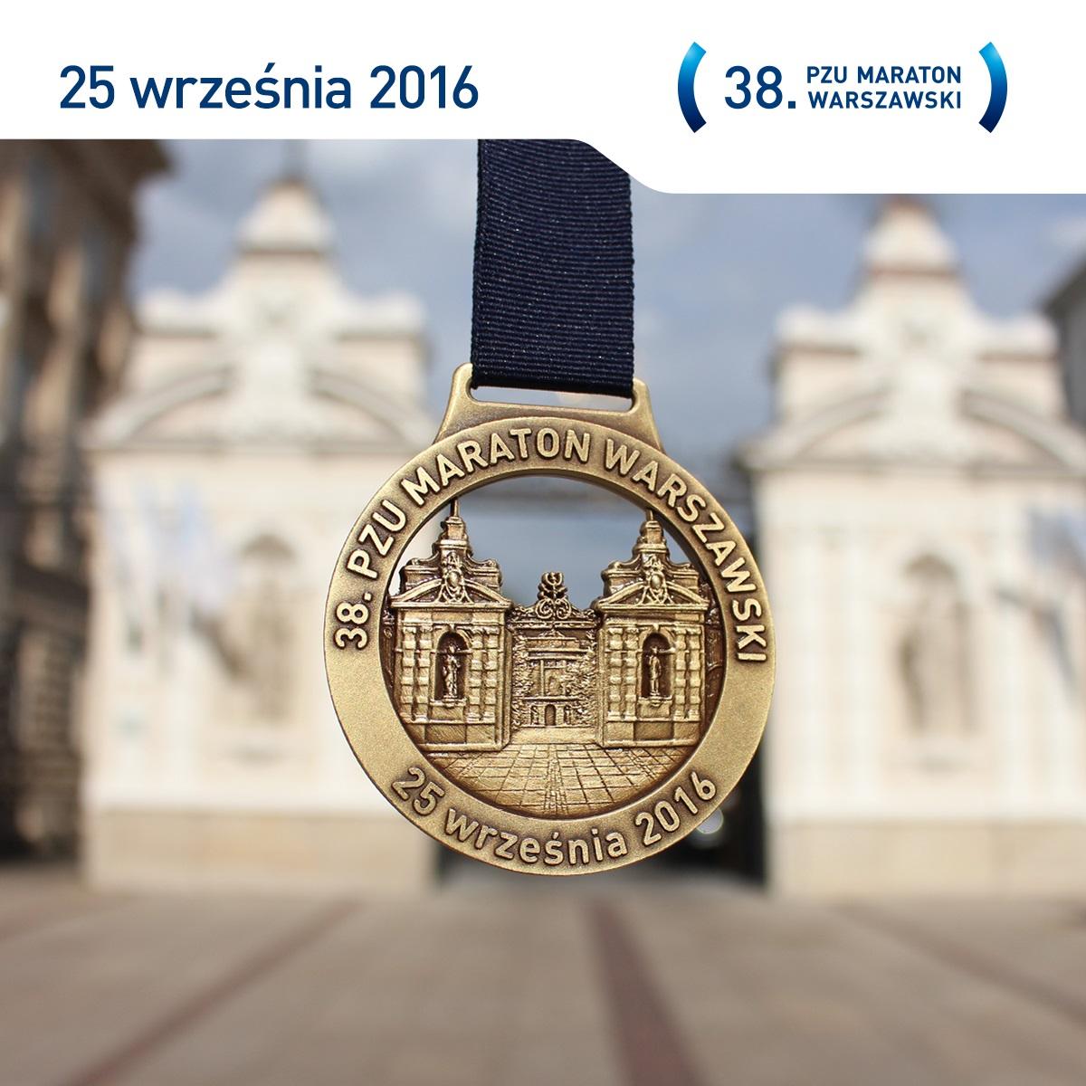 Medal 38. pzu maraton warszawski 2016, mapa, trasa, zapisy